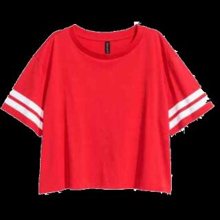 このコーデで使われているH&MのTシャツ/カットソー[レッド]