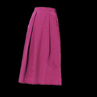 このコーデで使われているDiscoatのミモレ丈スカート[パープル/ピンク]