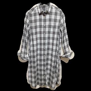 このコーデで使われているシャツワンピ[ホワイト/ブラック]