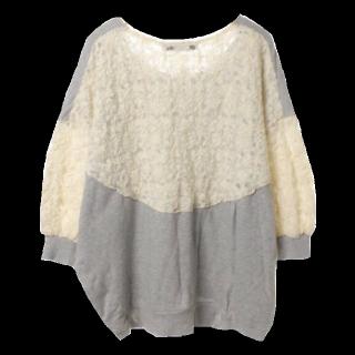 このコーデで使われているLily BrownのTシャツ/カットソー[グレー/ホワイト]