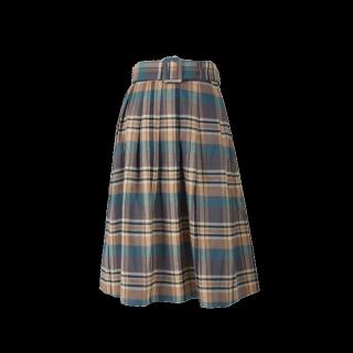 このコーデで使われているF i.n.tのひざ丈スカート[ブラウン/グリーン/キャメル]