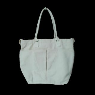 このコーデで使われているニトリのトートバッグ[ホワイト]