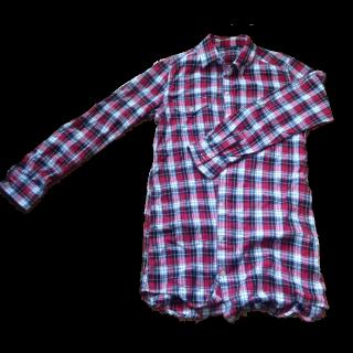 このコーデで使われているシャツ/ブラウス[レッド/ホワイト/ブラック]