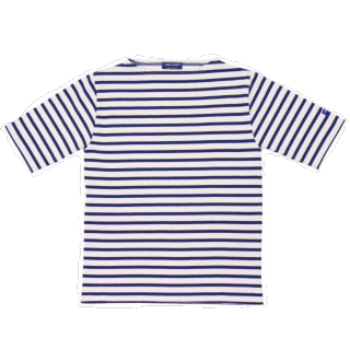 このコーデで使われているSAINT JAMESのTシャツ/カットソー[ホワイト/ネイビー]