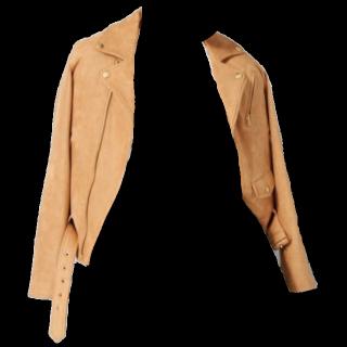 このコーデで使われているAndemiuのライダースジャケット[キャメル]