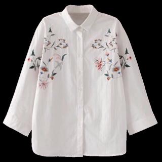 このコーデで使われているZARAのシャツ/ブラウス[ホワイト/ピンク/グリーン/グレー]