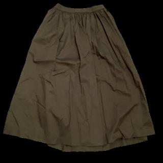 このコーデで使われているUNIQLOのマキシ丈スカート[ブラウン]