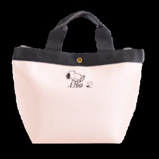 このコーデで使われているSNOOPYのトートバッグ[グレー/ピンク]