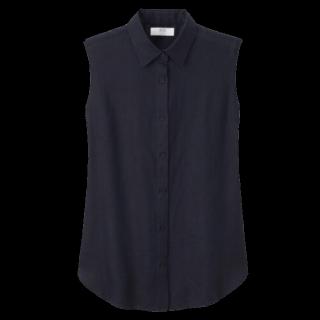 このコーデで使われているUNIQLOのシャツ/ブラウス[ネイビー]