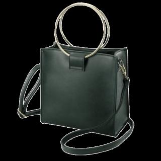 このコーデで使われているGUのハンドバッグ[グリーン]