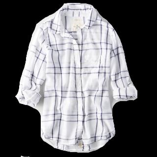 このコーデで使われているAmerican Eagleのシャツ/ブラウス[ホワイト]