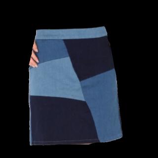 このコーデで使われているHeatherのひざ丈スカート[ブルー]
