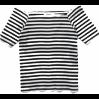 このコーデで使われているAndemiuのTシャツ/カットソー[ブラック/ホワイト]