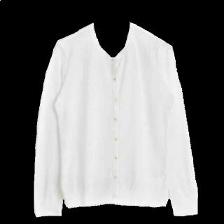このコーデで使われているle.coeur blancのカーディガン[ホワイト]