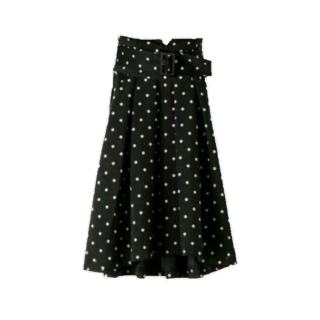 このコーデで使われているひざ丈スカート[ホワイト/ブラック]