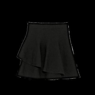 このコーデで使われているZARAのミニスカート[ブラック/ネイビー]