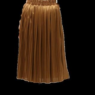 このコーデで使われているWEGOのプリーツスカート[ゴールド]