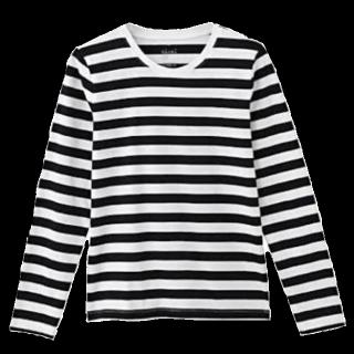 このコーデで使われているMUJI(無印良品)のTシャツ/カットソー[ホワイト/ブラック]