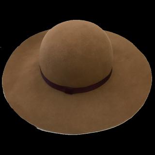 このコーデで使われているCLEAR IMPRESSION PRODUCED BY FLANDREの女優帽[キャメル]