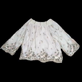 このコーデで使われているmysty womanのTシャツ/カットソー[ホワイト/カーキ]