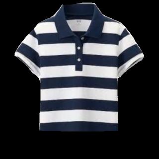 このコーデで使われているUNIQLOのポロシャツ[ネイビー/ホワイト]