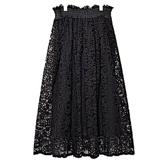 このコーデで使われているPalazzoのミモレ丈スカート[ブラック]