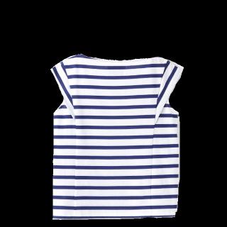 このコーデで使われているAdam et Rope'FEMMEのTシャツ/カットソー[ホワイト/ブルー]