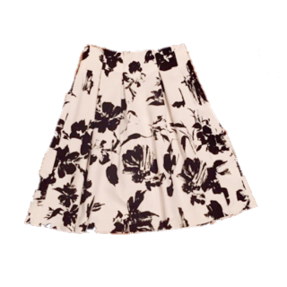 このコーデで使われている31 sons de modeのひざ丈スカート[ホワイト/ブラック]