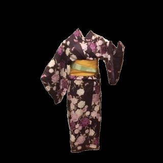 このコーデで使われている着物/浴衣[パープル/ネイビー/ホワイト]