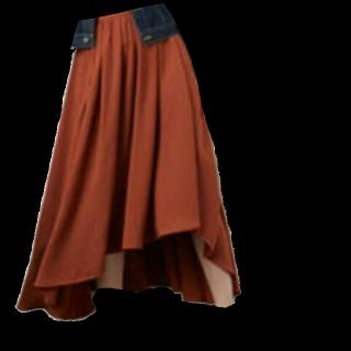 このコーデで使われているINGNIのマキシ丈スカート[ブラウン]