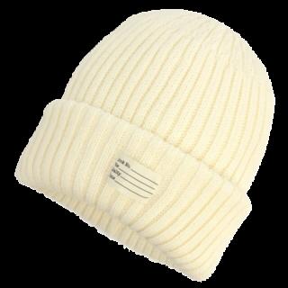 このコーデで使われているCA4LAのニット帽[ホワイト]