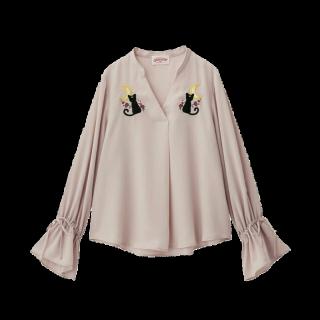 このコーデで使われているGUのTシャツ/カットソー[ピンク]