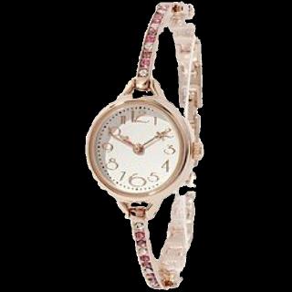 このコーデで使われているThreeFourTimeの腕時計[ホワイト/ピンク/パープル]
