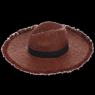 このコーデで使われているEVRISの麦わら帽子[ブラウン/ブラック]
