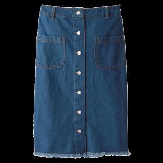 このコーデで使われているGRLのタイトスカート[ブルー]