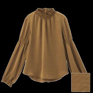 このコーデで使われているGUのシャツ/ブラウス[ブラウン/キャメル]