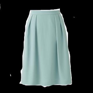 このコーデで使われているUNIQLOのひざ丈スカート[グリーン]