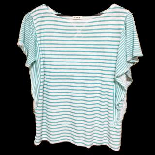 このコーデで使われているcoenのTシャツ/カットソー[ホワイト/グリーン]