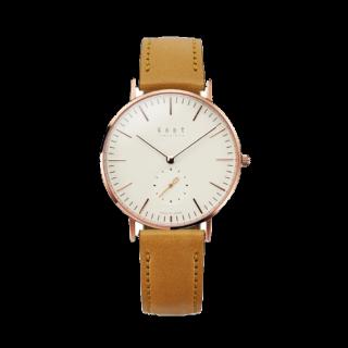 このコーデで使われているKNOTの腕時計[キャメル]