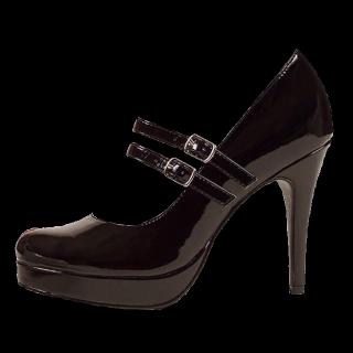 このコーデで使われているEllie shoesのパンプス[ブラック]