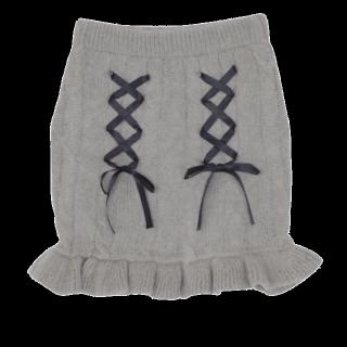 このコーデで使われているEATMEのミニスカート[グレー]